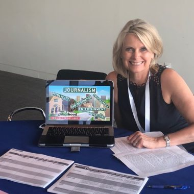 Distinguished Lecturer and Director of the Journalism Program Sissel McCarthy attended this year's NAMLE conference to give a talk about news literacy education.