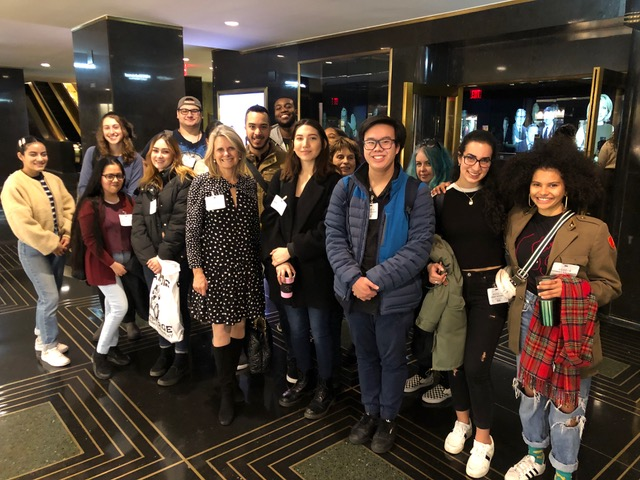 Students in Professor Sissel McCarthy's news literacy class met Nov. 11 with a panel of NBC News staffers and were given an exclusive tour of NBC studios.