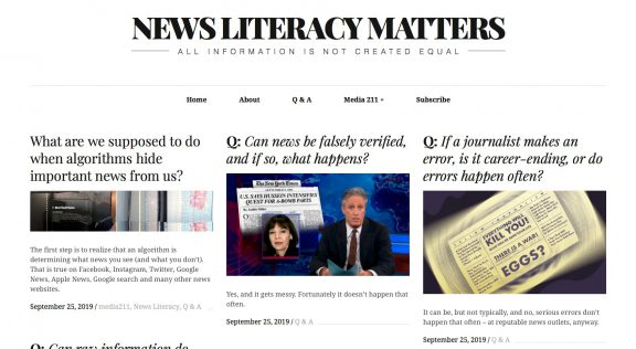 NewsLiteracyMatters.com screen shot