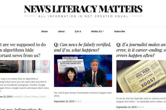 NewsLiteracyMatters.com screen shot