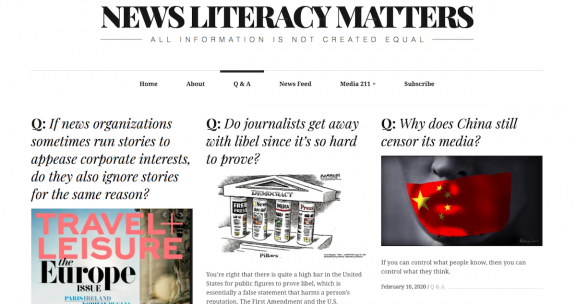 NewsLiteracyMatters screenshot 021720