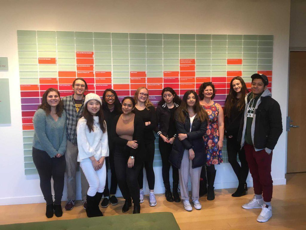 Hunter College students visit WNYC in November. PHOTO: Diana Alawis