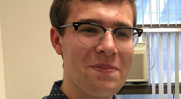 ABC News intern Ezra Wolfgang, just prior to graduation from the Hunter Media Studies and Journalism programs last spring.