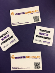 """I support Hunter Journalism"" stickers"