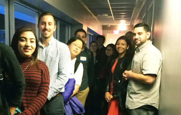 Students touring ABC