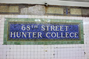 68th Street subway sign