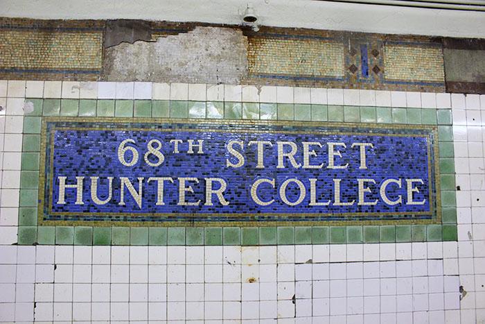 68th Street subway sign
